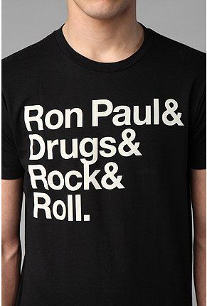 UrbanOutfitters.com > Ron Paul & Drugs & Rock & Roll Tee