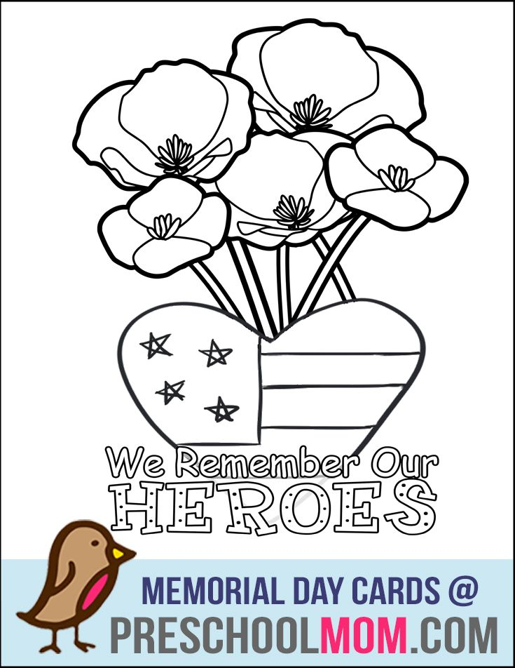 Image Result For Memorial Day Poppy Coloring Page Memorial Day - Poppies to remember coloring page