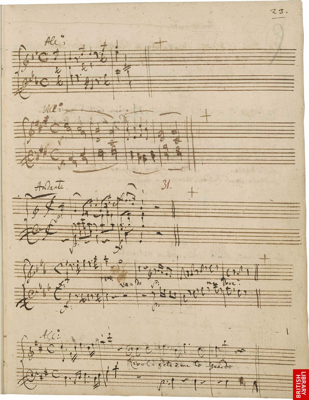 Mozart handwritten music - Composers: write all of your music by ...