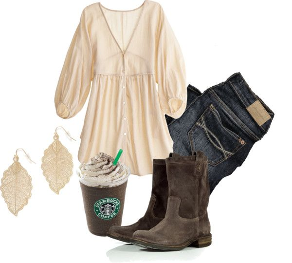 """Simple dark chocolate Fall outfit"" by natihasi on Polyvore"