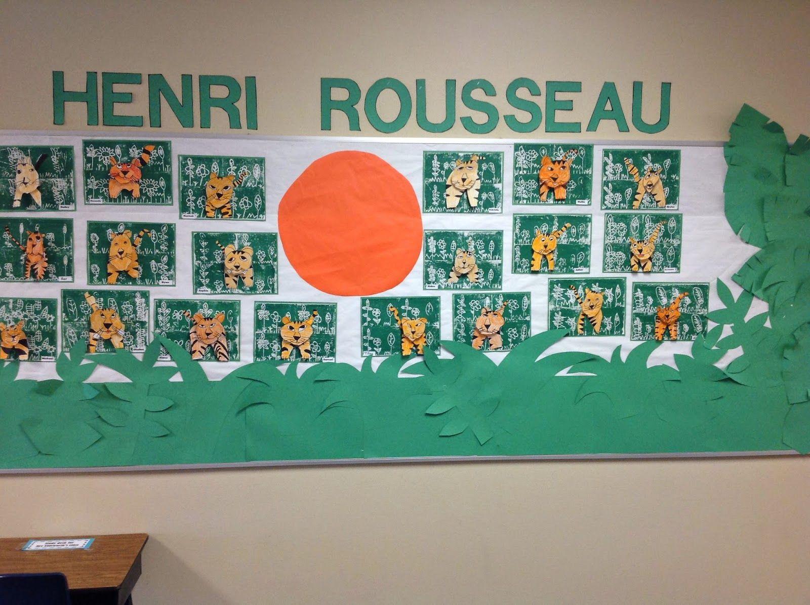 Mrs. T's First Grade Class Henri rousseau, Art lessons