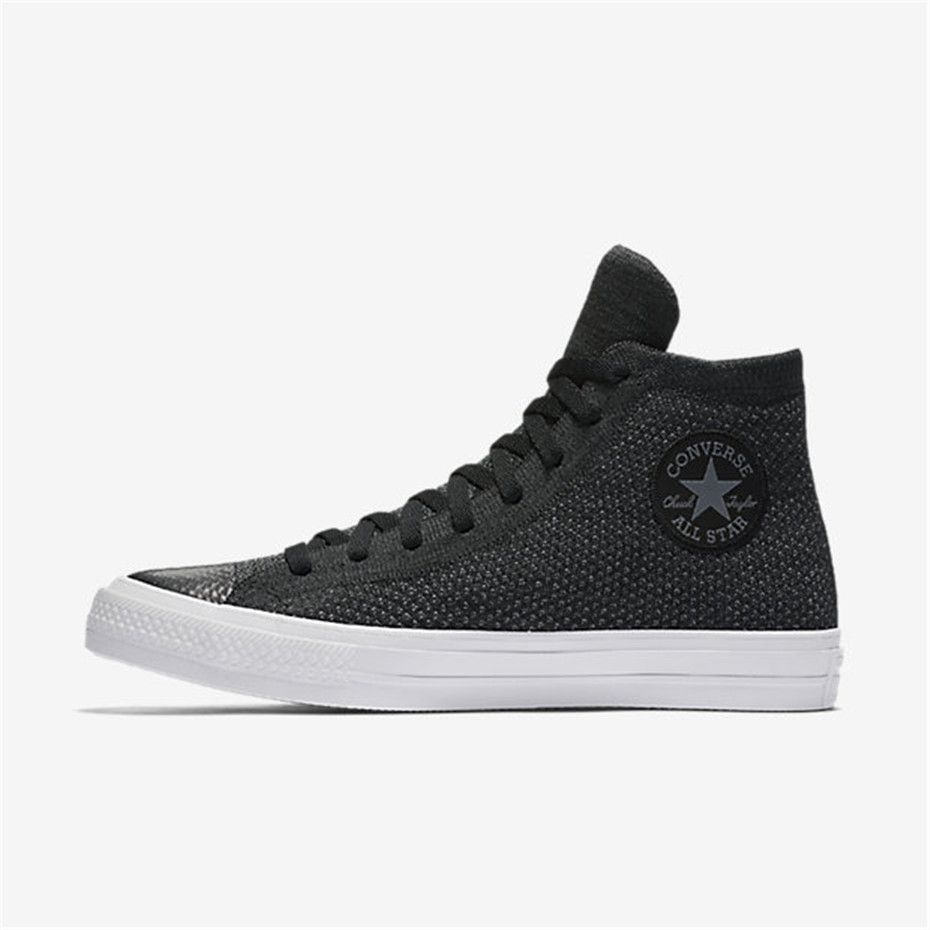 d165bdb56308e2 NIKE Converse Chuck Taylor All Star x Nike Flyknit High Top (Black ...