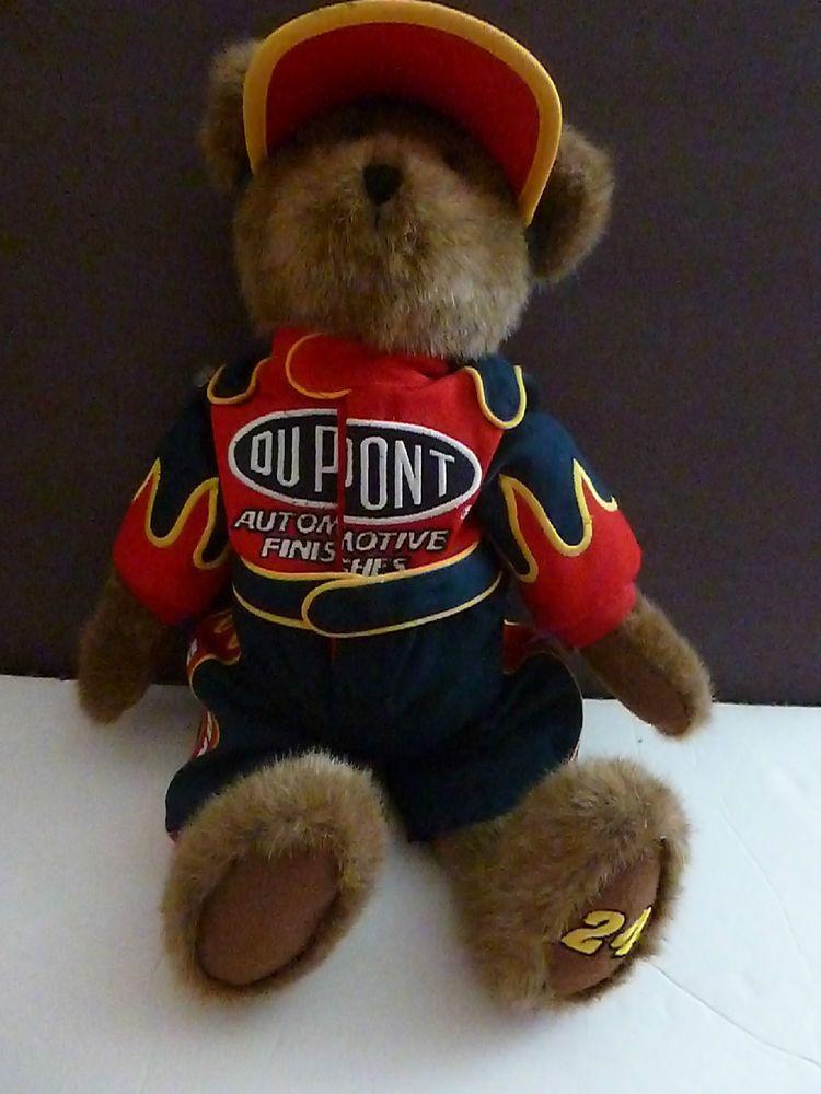 Details About Boyds Nascar Racing 24 Jeff Gordon Teddy Bear 5 Quot Plush Stuffed Toy Ornament New