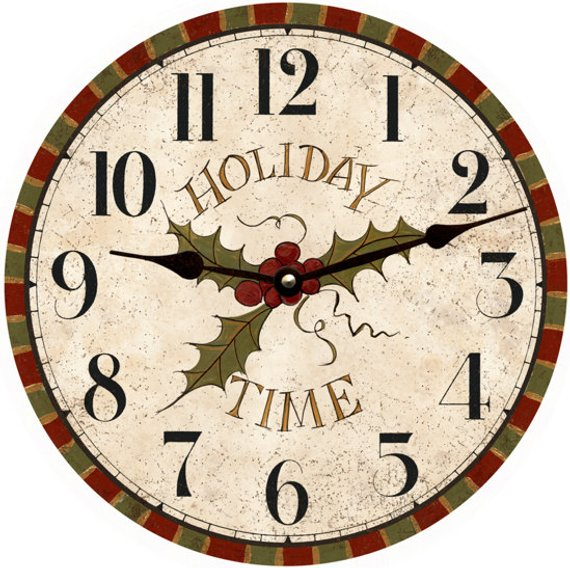 Holiday Wall Clock Christmas Clock Christmas Clock Clock Diy Clock