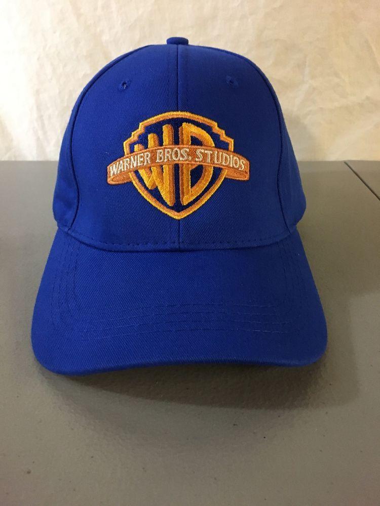 478be66eb9c353 Rare! Warner Bros. Studio Baseball Hat! Blue Logo Cap! Authentic ...