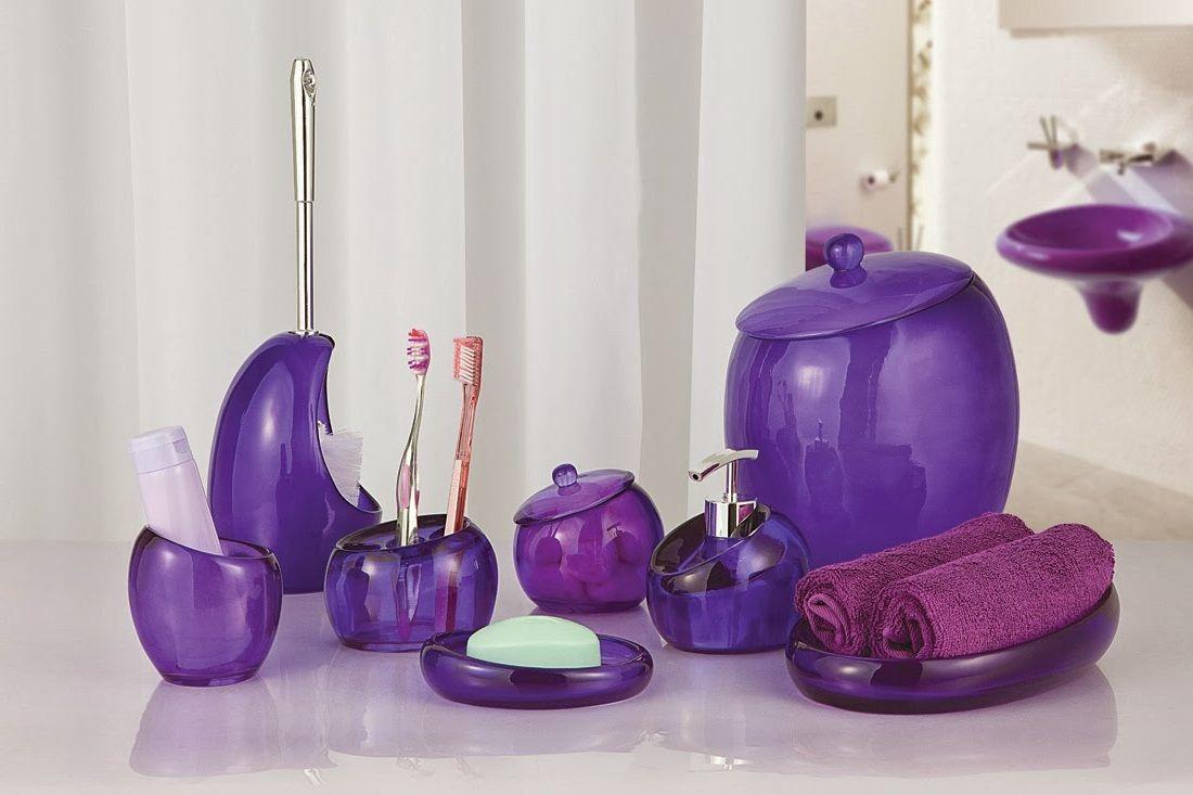 Cool purple bathroom accessories