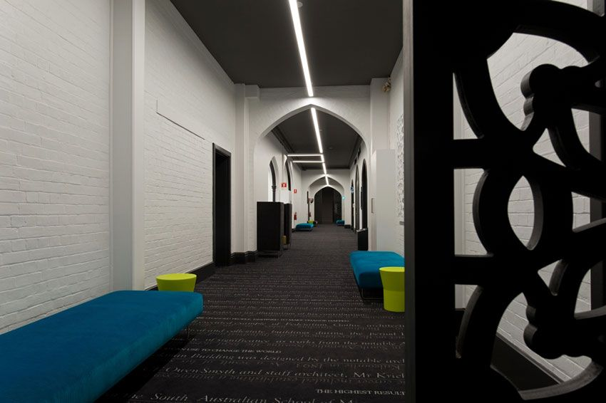 Brookman building interior education lighting aus gs led