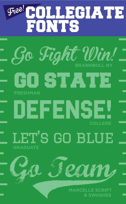 collegiate football free fonts