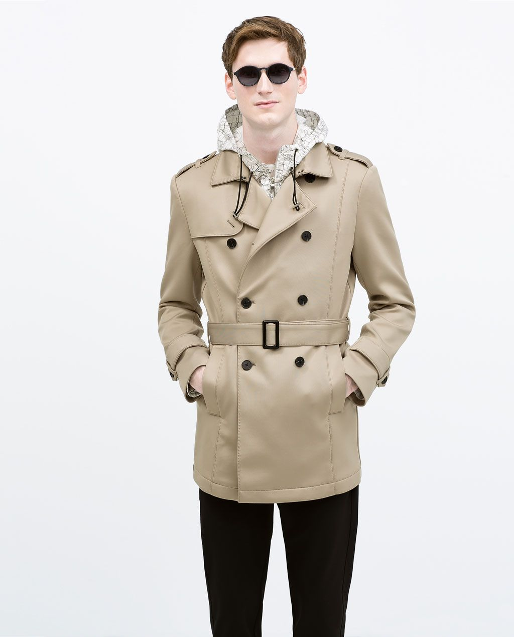 DOUBLE BREASTED TRENCH COAT-Jackets-MAN-SALE | ZARA United States ...