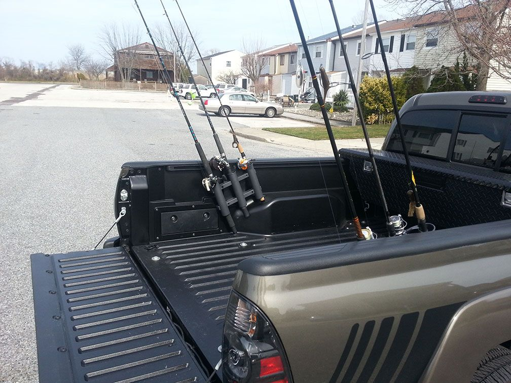 Diy Fishing Rod Holder Using Rotopax Mount Truck Ideas