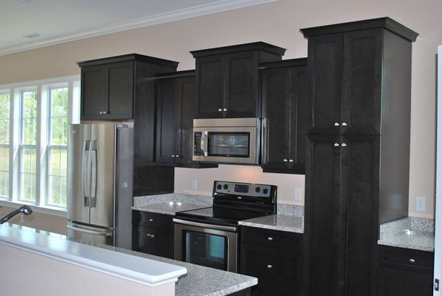 Black Stained Kitchen Cabinets Home Furniture Design Kitchen