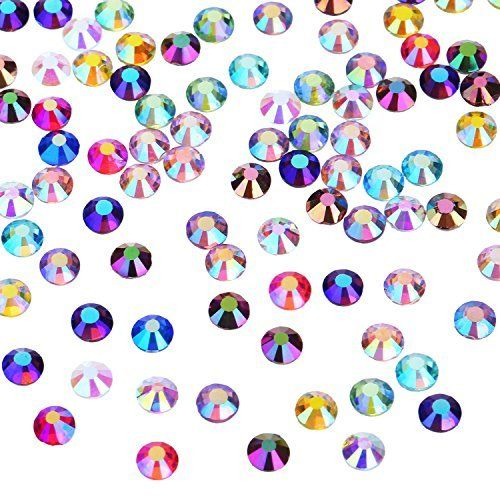 Blulu 600 Pieces Gems Acrylic Craft Jewels Flatback Rhinestones Gemstone Embellishments Heart Star Square Oval and Round Assorted Color 8 to 14 mm
