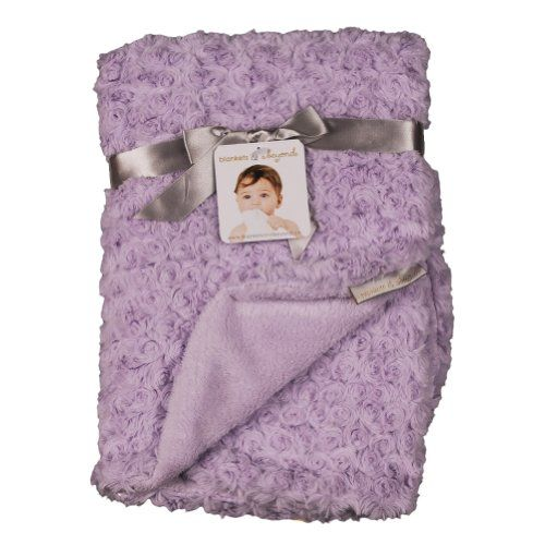 Blankets and Beyond Rosette Blanket Lavender Blankets and