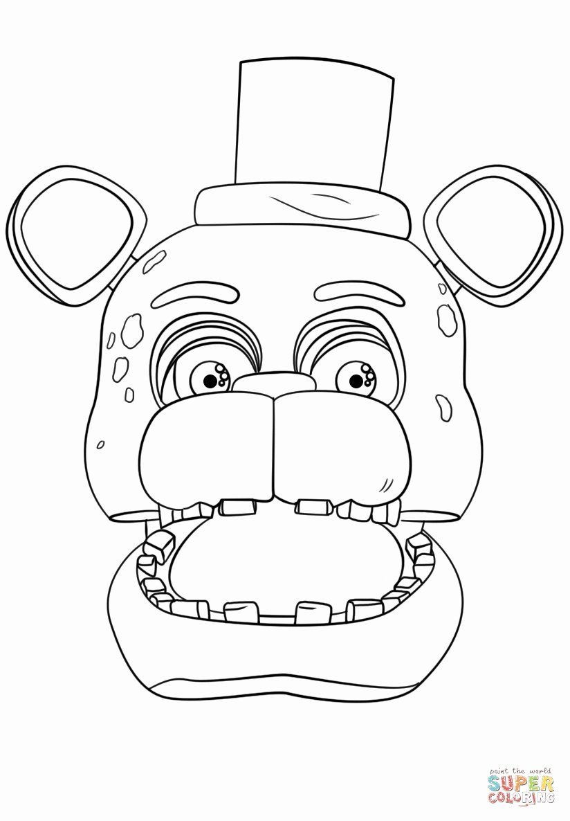 Five Nights At Freddy S Coloring Pages Beautiful Golden Freddy