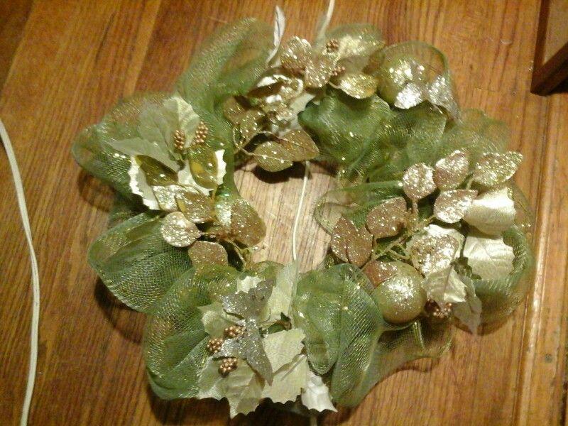 Butterflies in gold wreath