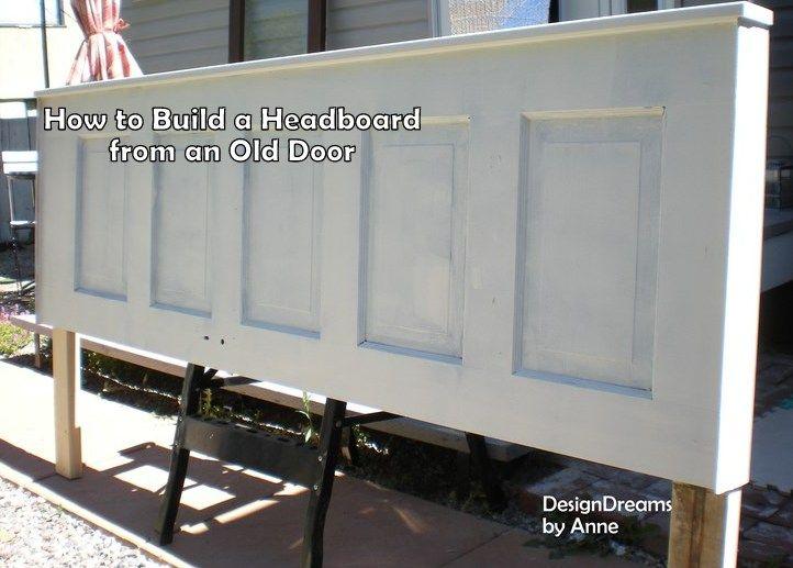 "Build Headboard how to build a headboard from an old door | ""hometalk & funky junk"