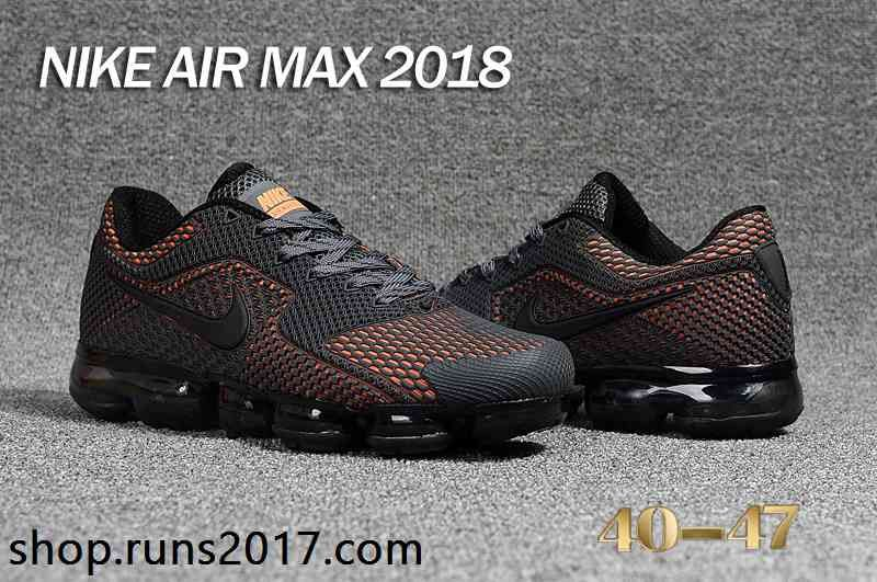 quality design b6c04 61803 New Nike Air Max 2018.5 KPU Carbon Gray Orange Men Shoes