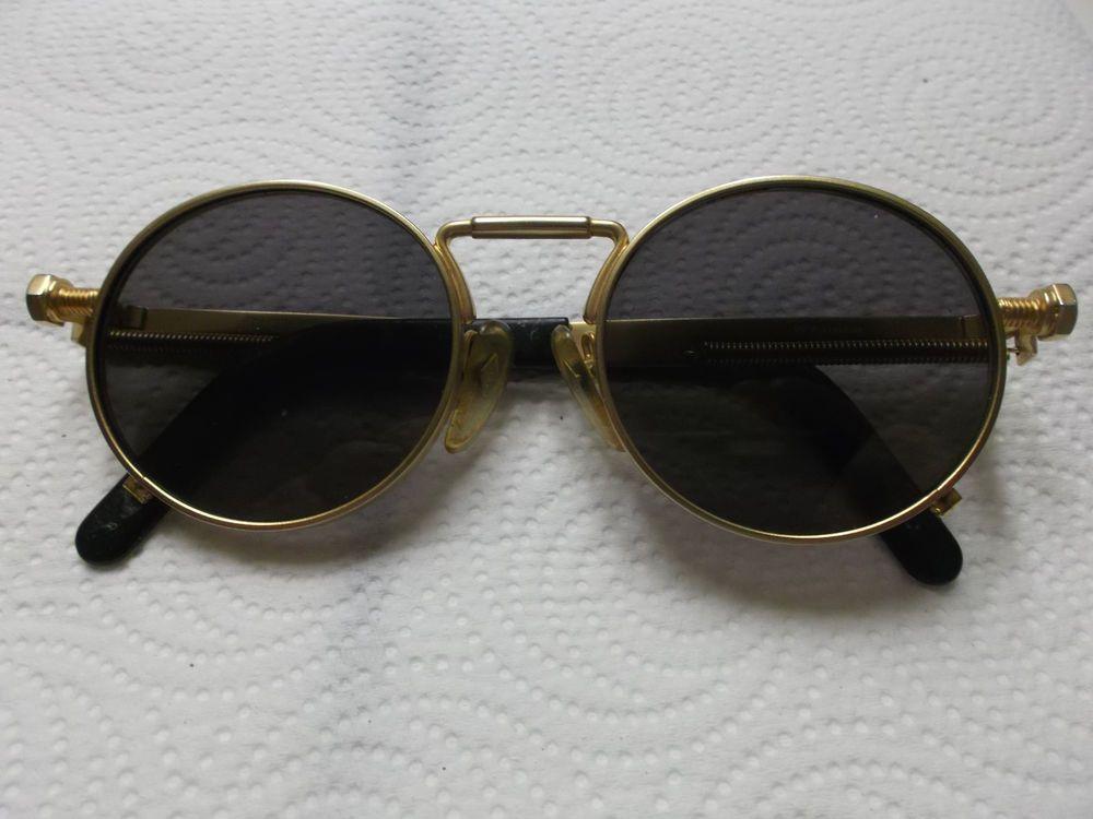 0a2ced8a81c Jean Paul Gaultier 56-8171 Gold Vintage Sunglasses