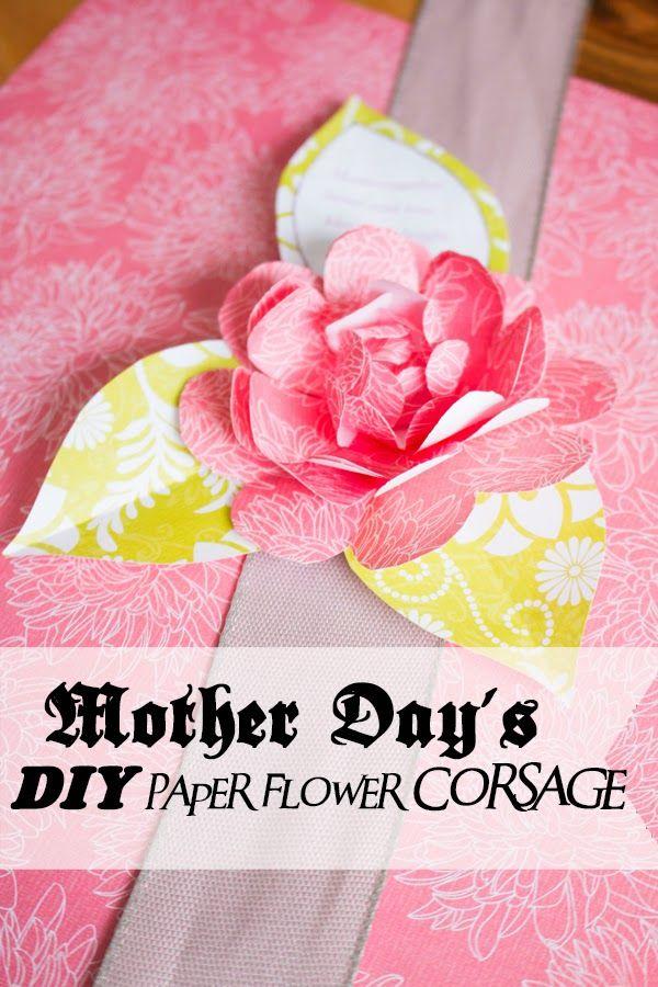 Paper flowers handmade tutorials diy pinterest paper flowers handmade tutorials diy mother day wrist corsage do it yourself mightylinksfo Images