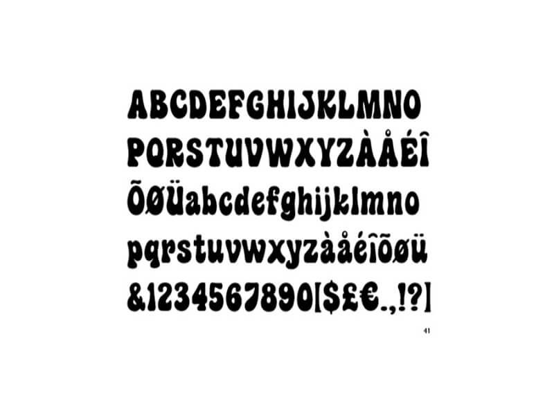 Hippie Fonts   Psychedelic Font Free Download   Hippie font