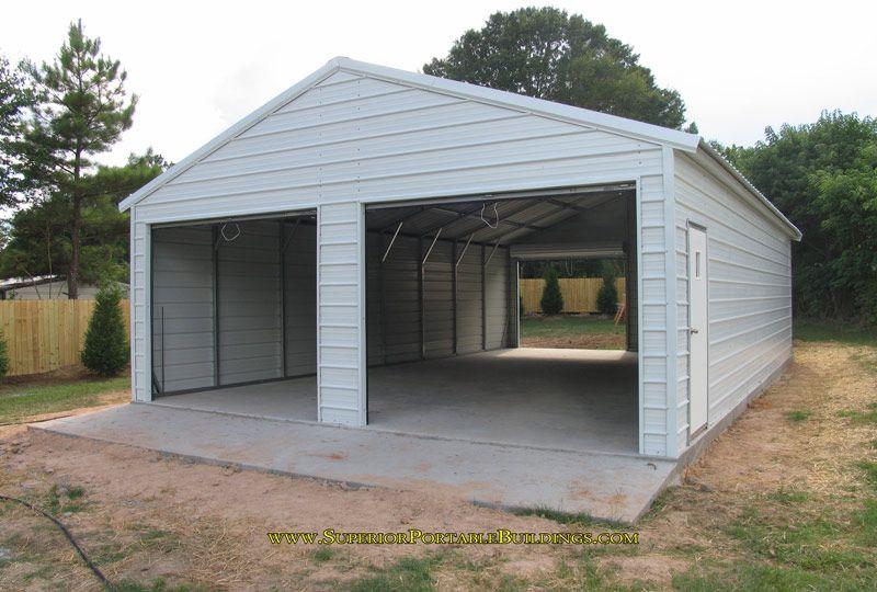 Mr. Big 24 x 40 x 9 Featured Steel Garage Shed, Diy shed