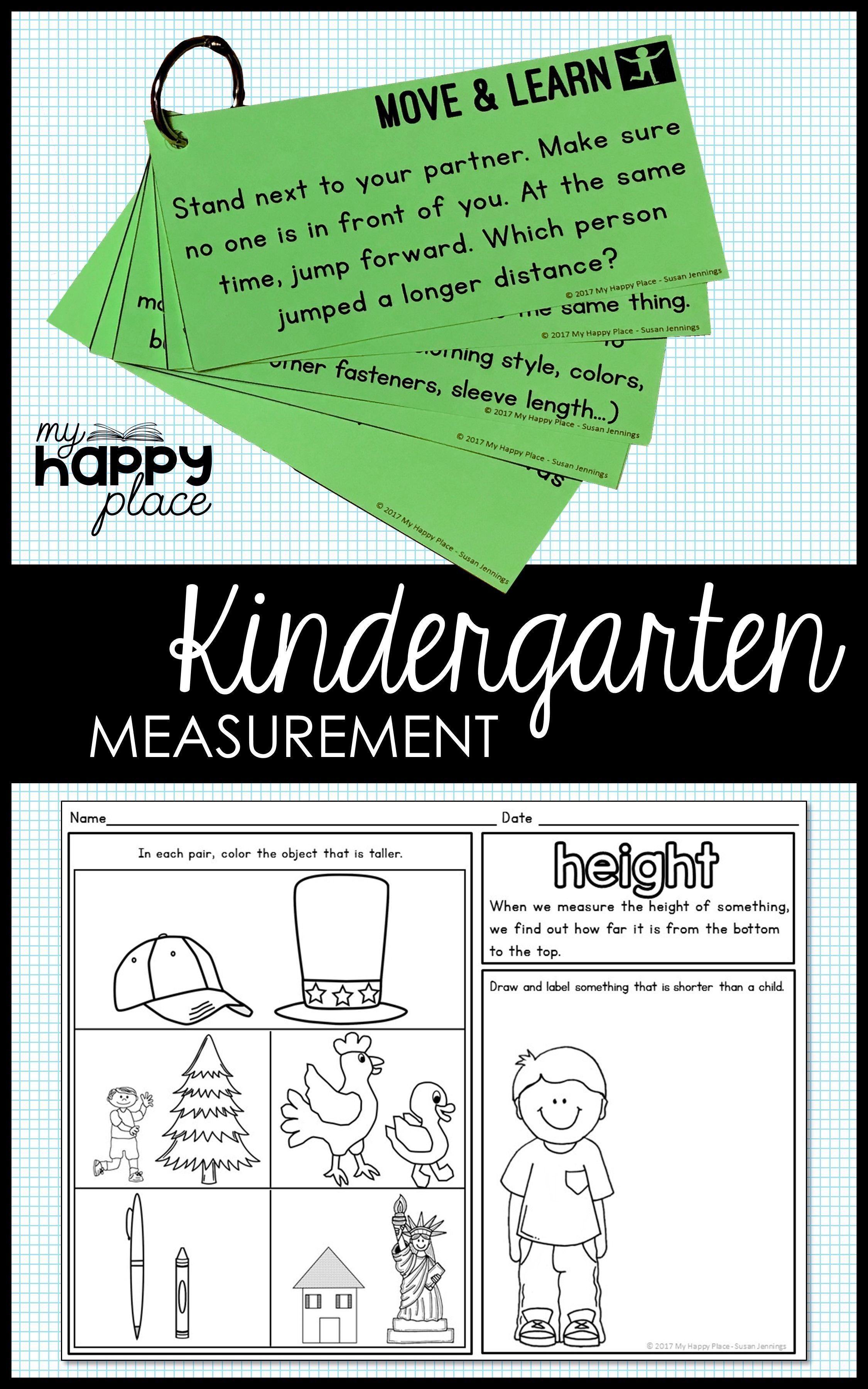Measurement For Kindergarten