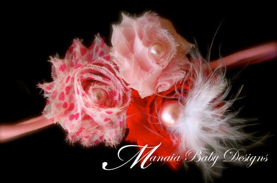 Vintage Valentine's Headband by ManaiaBabyDesigns on Etsy, $6.50