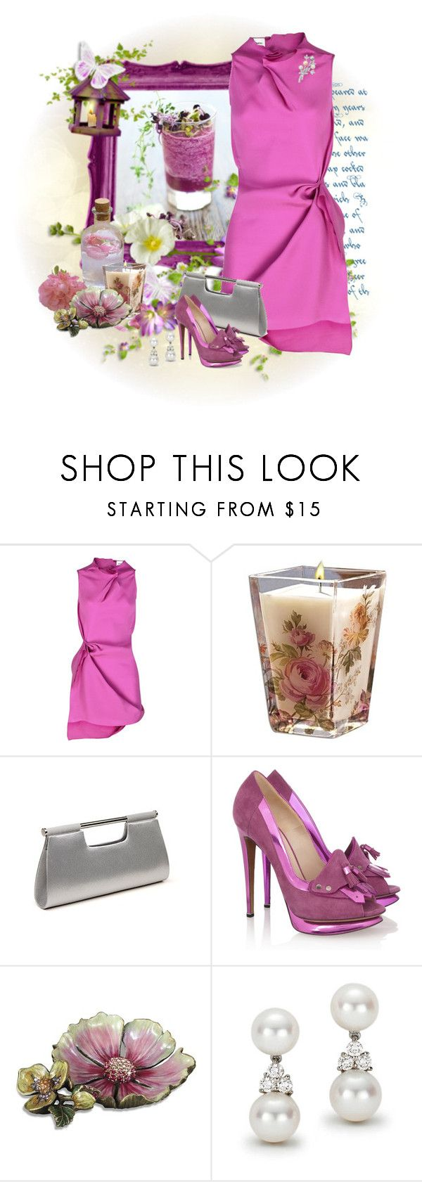 """""""Pivonka#565"""" by lilikatka ❤ liked on Polyvore featuring beauty, RM by Roland Mouret, CO, La Regale, Nicholas Kirkwood, Jay Strongwater and Tiffany & Co."""