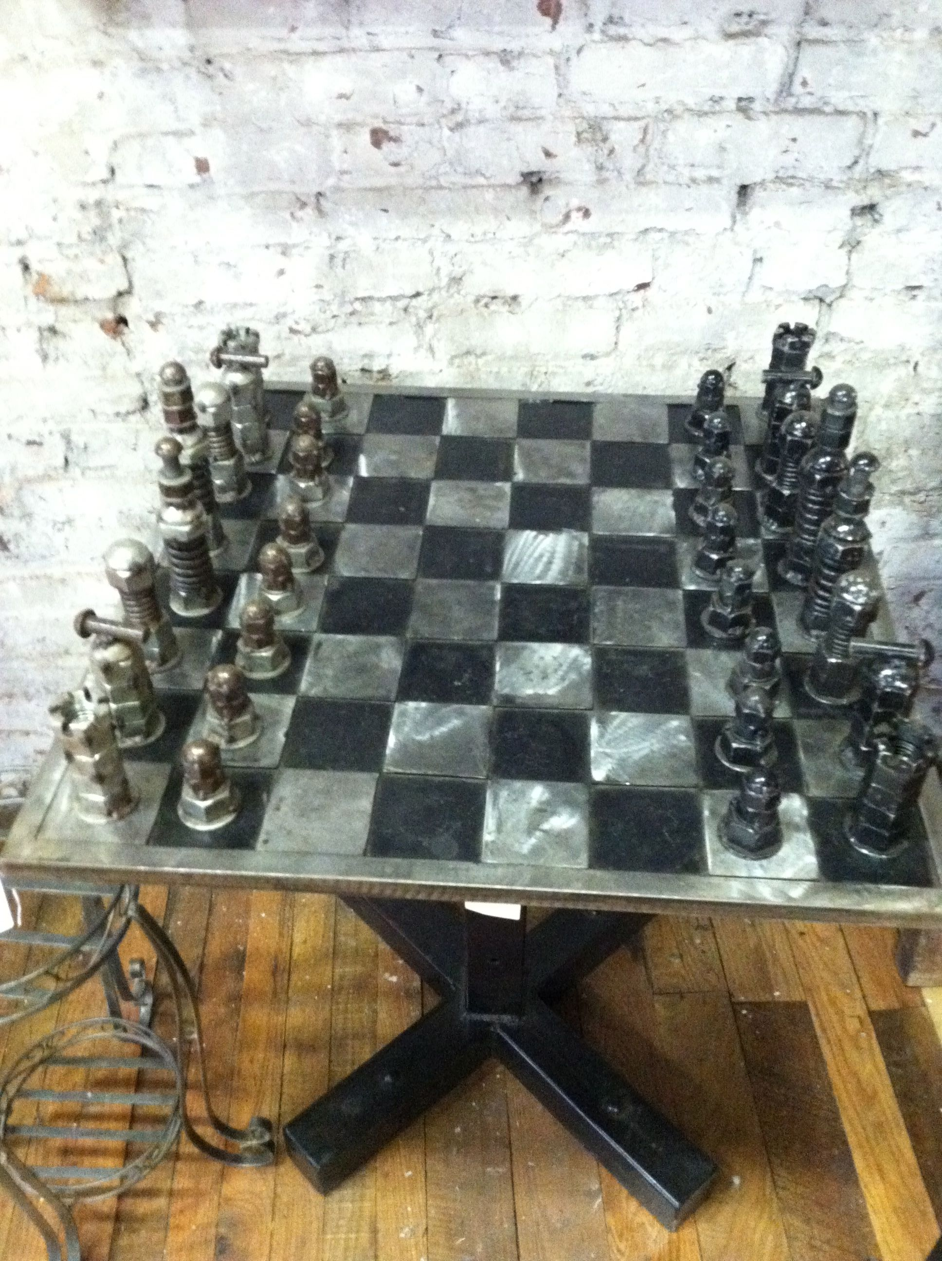 projects ideas metal chess pieces. metal chess set  Games Pinterest Chess sets and Welding
