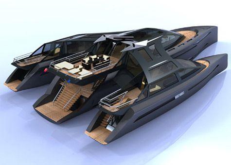 Luxus trimaran  Horizon Trimaran, Superyacht Concept | Barnaby Heseltine. | Luxus ...