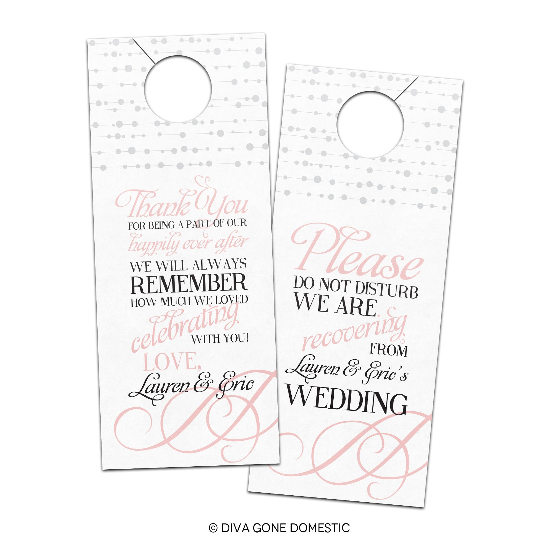 Wedding Door Hanger Template  Bridal Ideas    Door