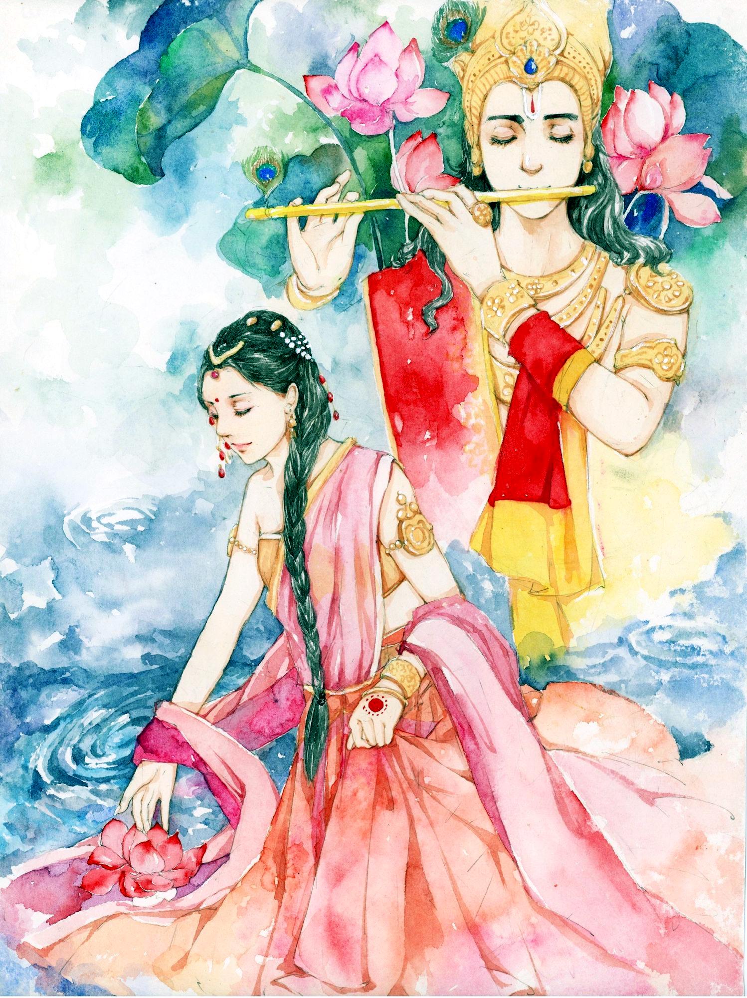 Rukmini Krishna Krishna Painting Krishna Radha Painting Krishna