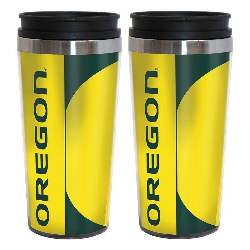 Oregon Ducks 2-Pack Hype Travel Tumblers, Multicolor