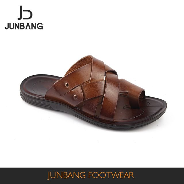a686ac886dd Source 2017 promotional beach custom black color pu slippers for men  quality sandal on m.alibaba.com