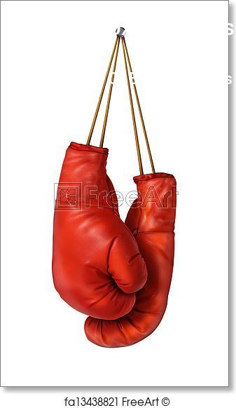 Hanging Boxing Gloves Logo Free Art Prints Boxing Gloves Logo Images