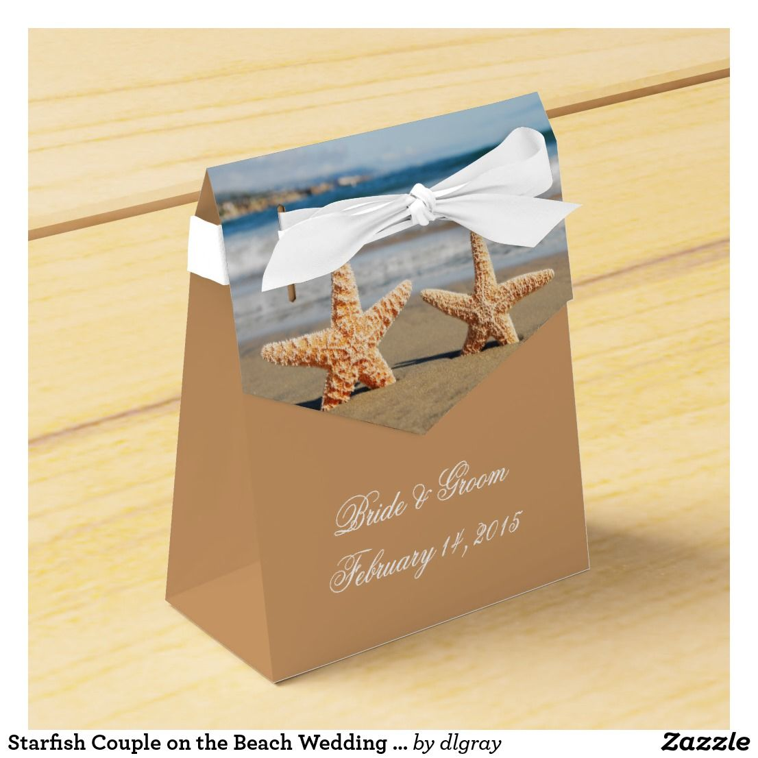 Starfish On The Beach Wedding Favor Box