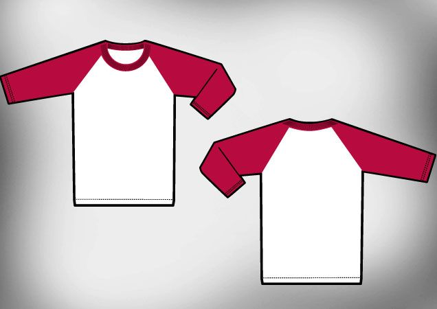 Raglan T Shirt Template Vector Sublimacion