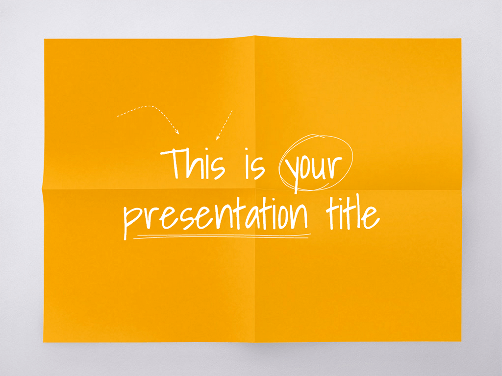 This playful and colorful free presentation template mimics a sheet ...