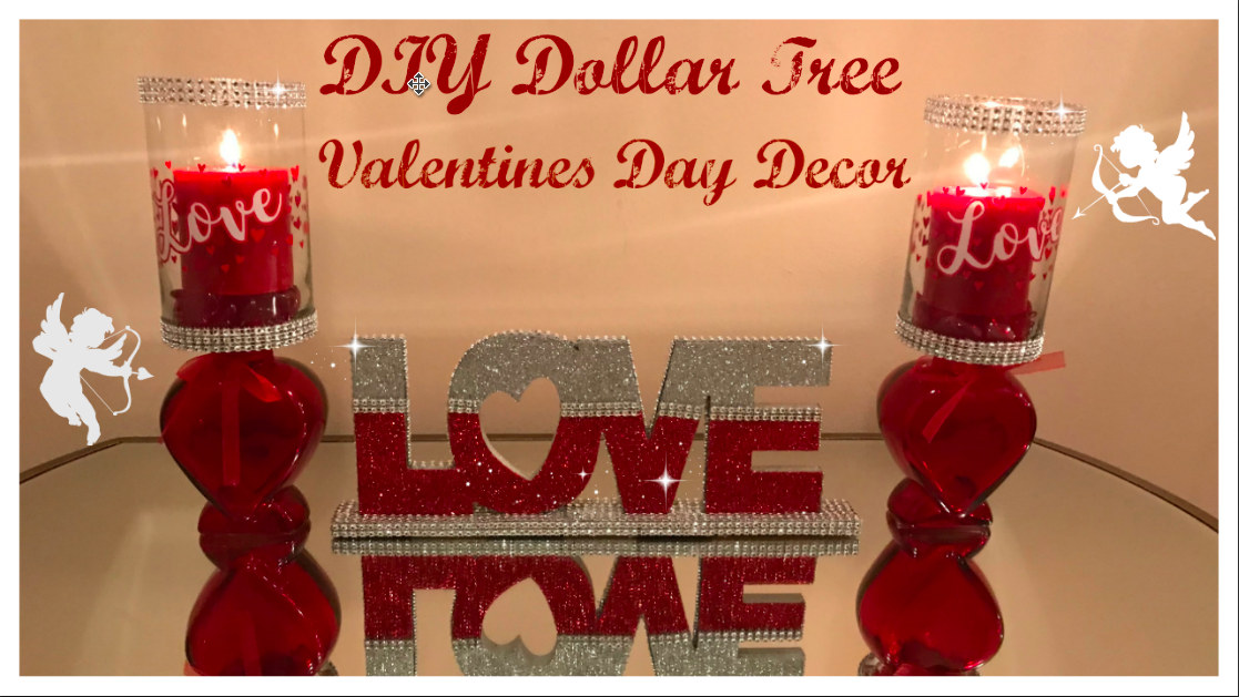 Diy These Beautiful Valentines Day Decor Full Diy On My Channel Now Fast And Easy Craf Dollar Tree Diy Diy Dollar Tree Centerpieces Dollar Tree Centerpieces