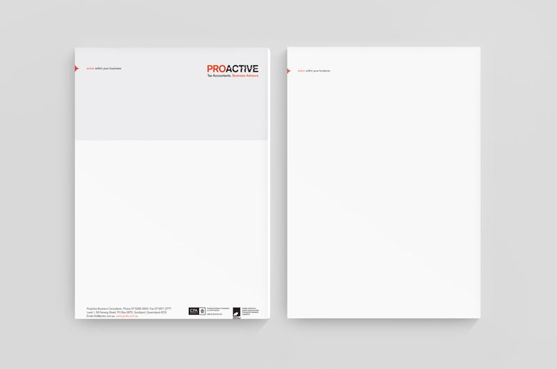 Proactive Business Consultants // brand identity, logo design, stationery
