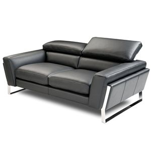 Stupendous Athens Black Italian Leather Loveseat Small Space Andrewgaddart Wooden Chair Designs For Living Room Andrewgaddartcom