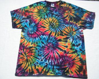 Tie Dye Black Fireworks Shirt Tye Die Custom Made To Order With