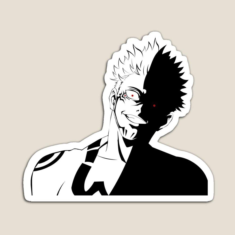 Jujutsu Kaisen Ryoumen Sukuna Magnet By Fantasylife In 2021 Jujutsu Anime Wallpaper Phone Anime Stickers