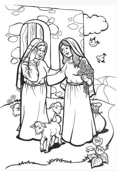 Crafts Activities Mary Visits Elizabeth Sunday School Coloring Pages Christmas Sunday School Sunday School Kids
