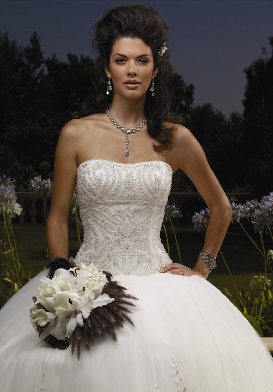 1866 Casablanca Bridal Complete Details Gown Features Beading And