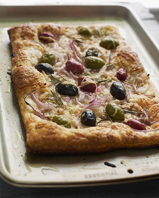 Red Onion & Olive Tart
