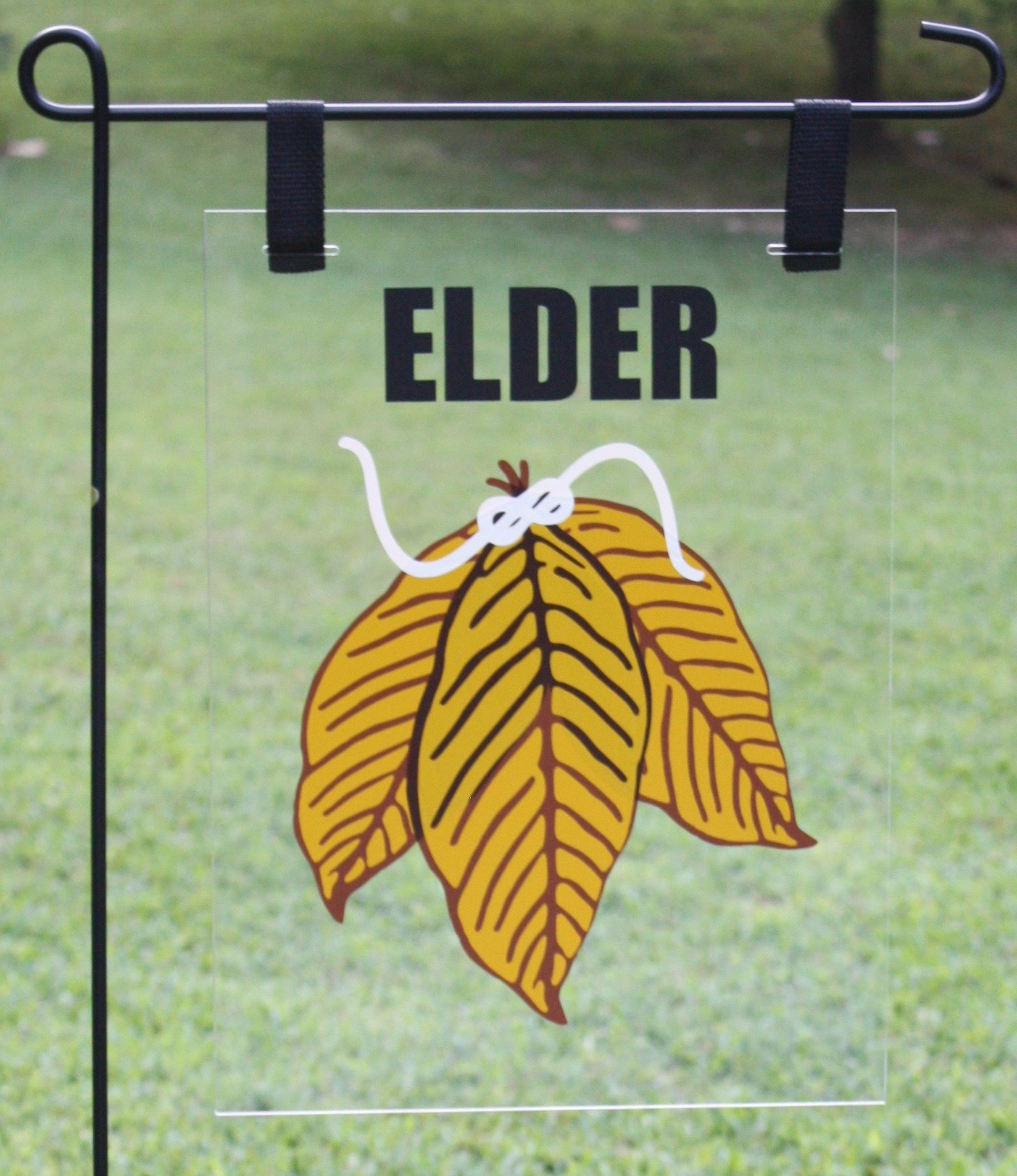 Tobacco Leaf Garden Flag  Can Be Personalized With Family