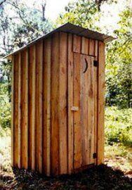 make porta john into outhouse