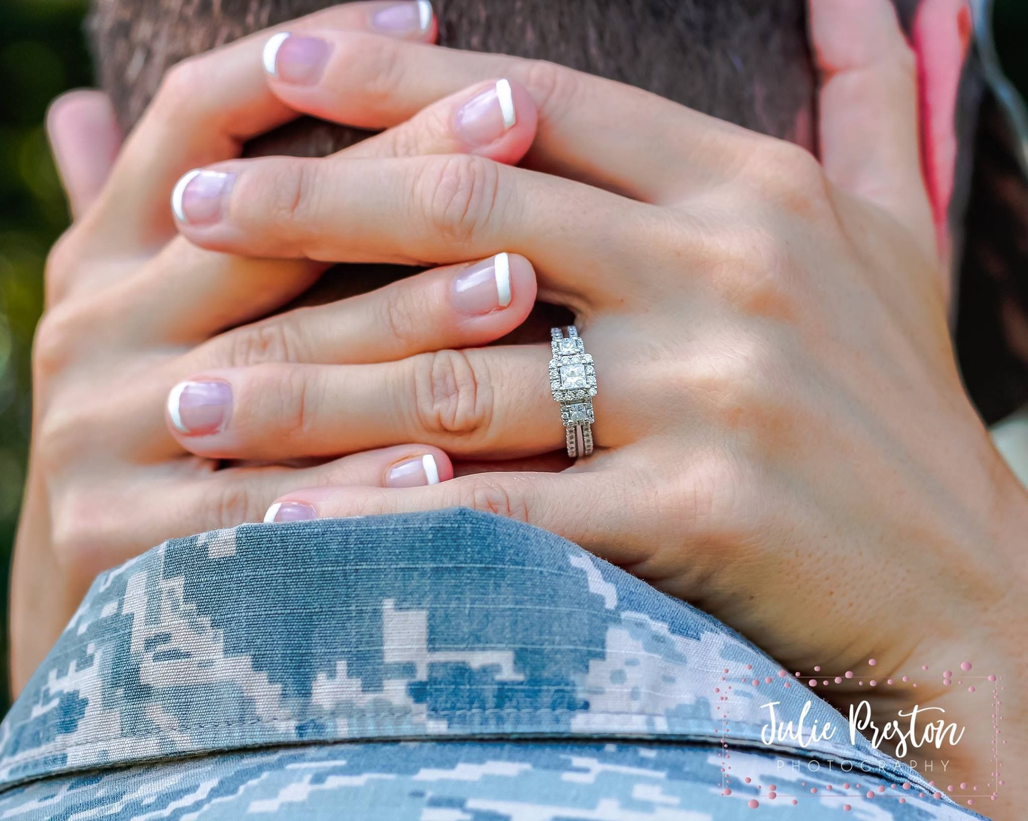 Air Force Military Wedding Diamond Engagement Ring Proposal Fatigues Army Camo Ring Fiance Fiancee Married Marriage Manicure Fren Jewelry Fashion Rings
