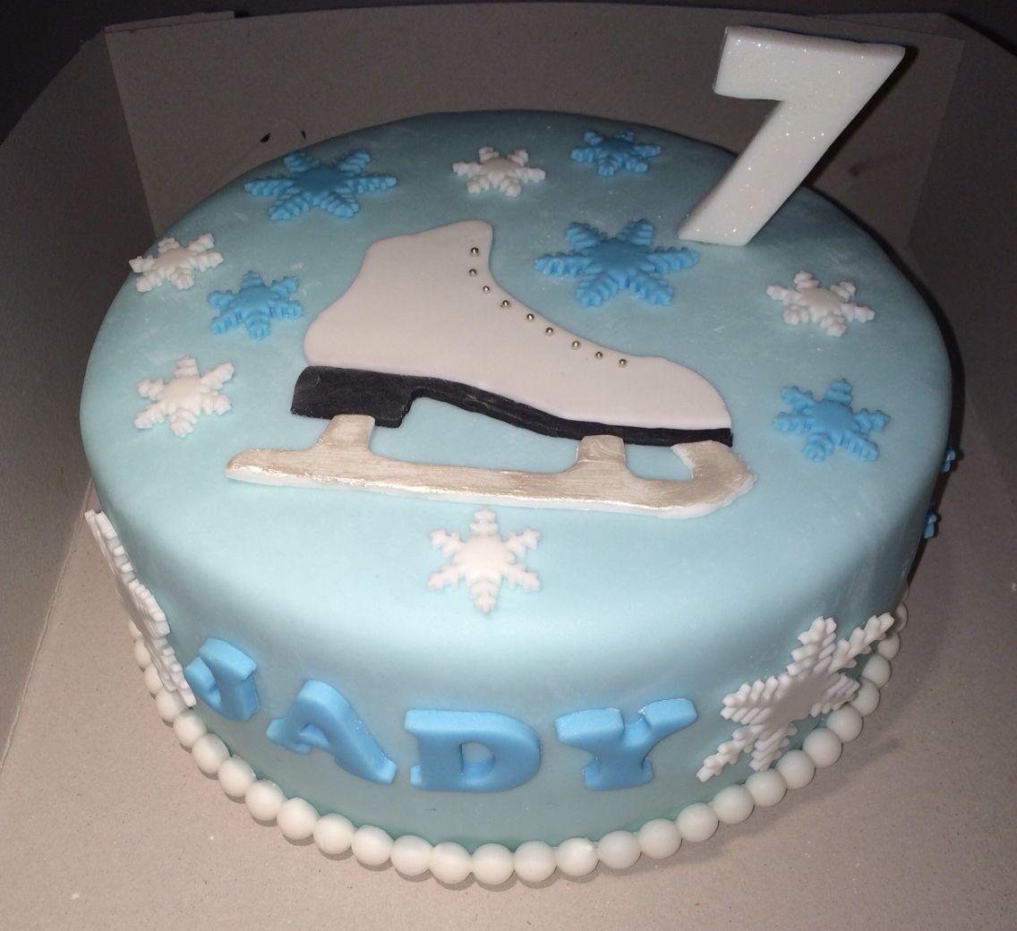 Iceskating cake Our own bakings Pinterest Cake